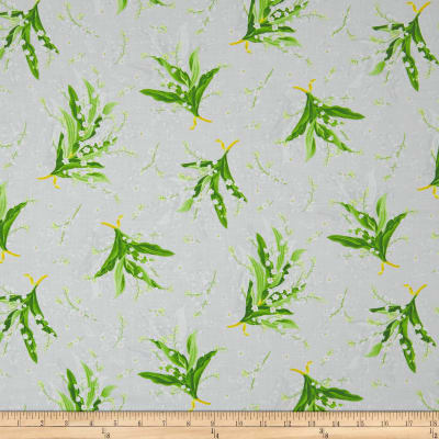 Maywood Studio Greenery Tossed Lily Grey