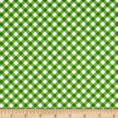 Maywood Studio Greenery Diagonal Check Green