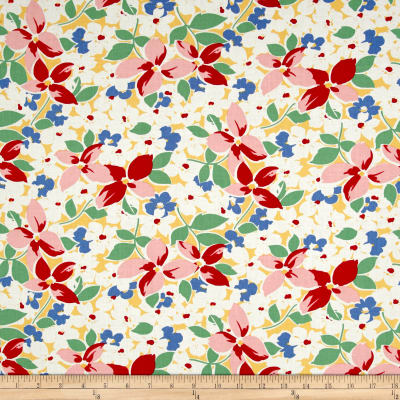 Maywood Studio Hi-de-Ho Large Floral Yellow/Red
