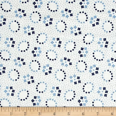 Maywood Studio Hi-de-Ho Oval Flowers Blue