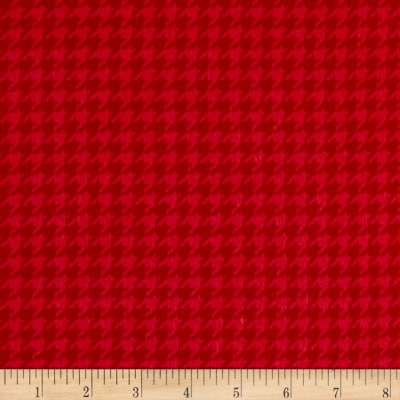 Maywood Studio Kimberbell Lil' Sprout Flannel Too! Houndstooth Soft Red
