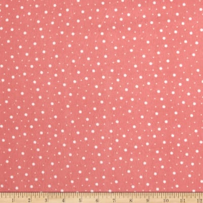 Maywood Studio Kimberbell Lil' Sprout Flannel Too! Random Dots Peach/White