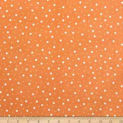 Maywood Studio Kimberbell Lil' Sprout Flannel Too! Random Dots Orange/White