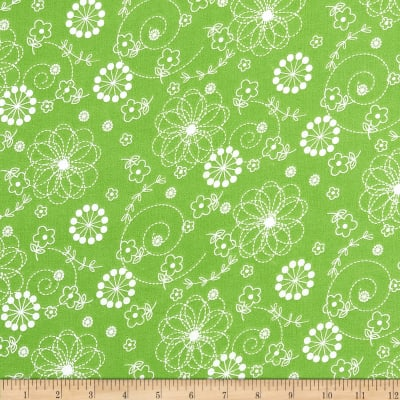 Maywood Studio Kimberbell Lil' Sprout Flannel Too! Doodles Green