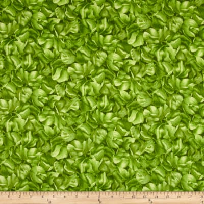 Maywood Studio Sweet Pea Flannel Tonal Blossoms Green