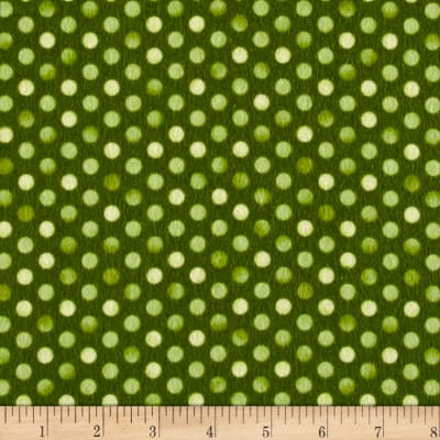 Maywood Studio Sweet Pea Flannel Confetti Dots Green