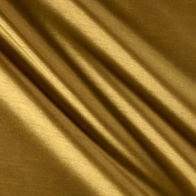 Worldly Faux Dupioni Silk Brass