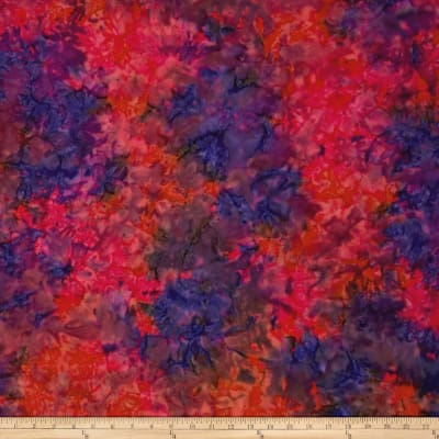 Sarah J Red Sky Batiks Oil Slick Purple