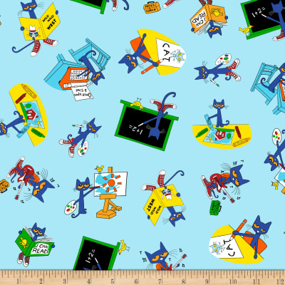 Pete The Cat Back To School Allover Multi Bright