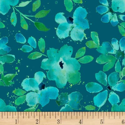 Nancy Rink Sea Glass Water Floral Navy