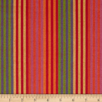 "Yarn Dyed Shirting 1/2 "" Stripe Multi Bright"