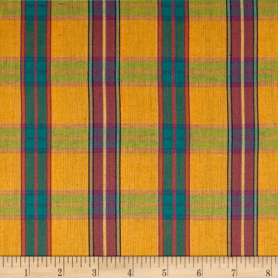 Yarn Dyed Shirting Plaid Gold