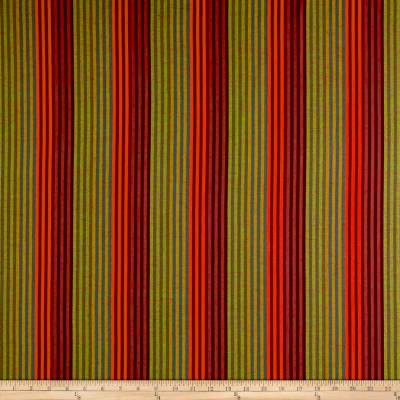 Yarn Dyed Shirting Stripe Orange/Wine