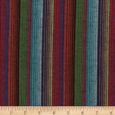 Yarn Dyed Shirting Wide Stripe Grey/Wine/Multi