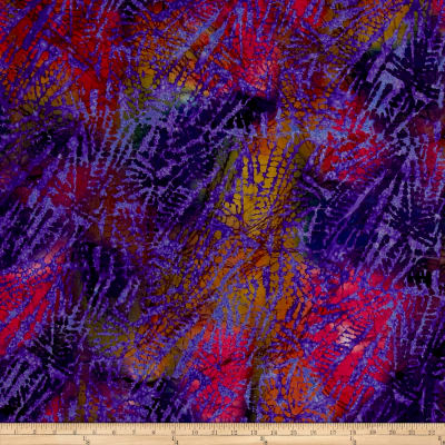 Aztec Abstract Batik Purple/Fuchsia