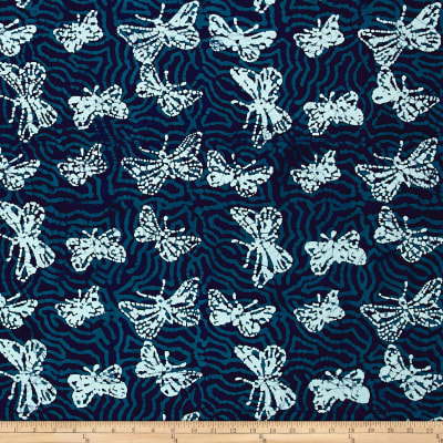 Blue Bazaar Batik Butterfly Blue