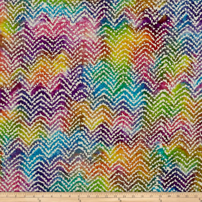 Cascades Flame Stitch Batik Dusty Multi