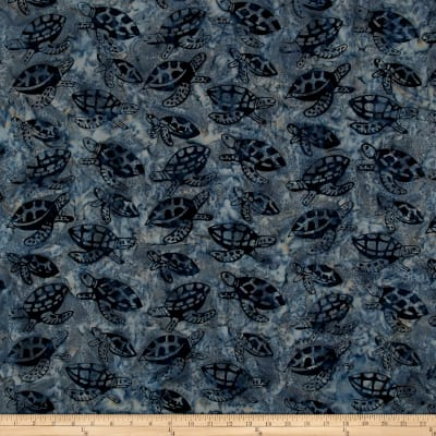 Turtle Batik Deep Blue