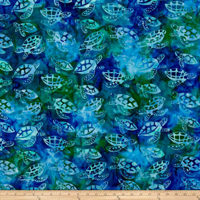 Turtle Batik Blue/Green