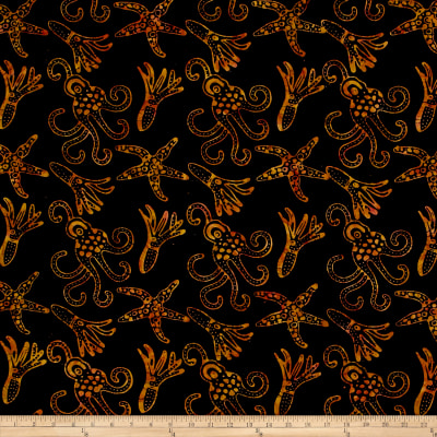 Squid Starfish Batik Black/Brown