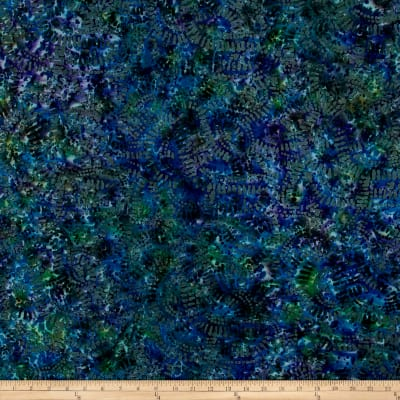 Abstract Batik  Blue/Olive