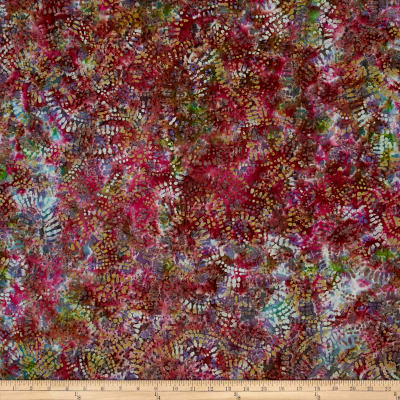 Abstract Batik  Olive/Wine/Purple