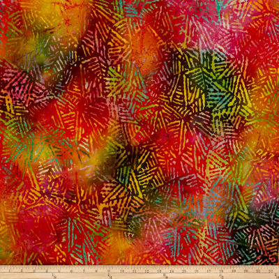 Abstract Batik Pink/Orange/Yellow