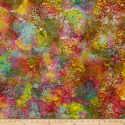 Medallion Batik Pink/Blue/Yellow