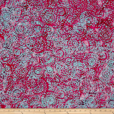 Medallion Batik Red/Blue