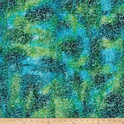 Batik Swirl Blue/Green
