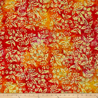 Floral Batik Orange/Yellow/Pink