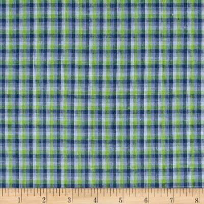 Yarn Dyed Shirting Check Purple/Lime/Lav