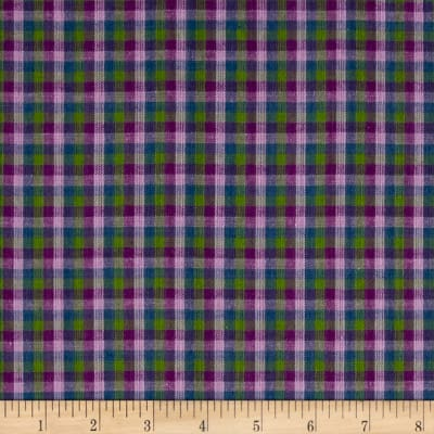 Yarn Dyed Shirting Check Purple/Lav/Green/Blue