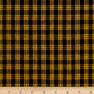 Yarn Dyed Shirting Plaid Black/Gold