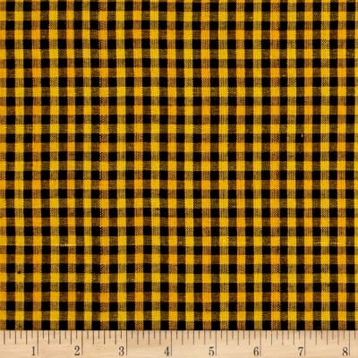 Yarn Dyed Shirting Check Black/Gold