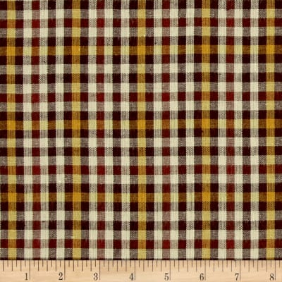 Yarn Dyed Shirting Check Brown/Gold/Nat