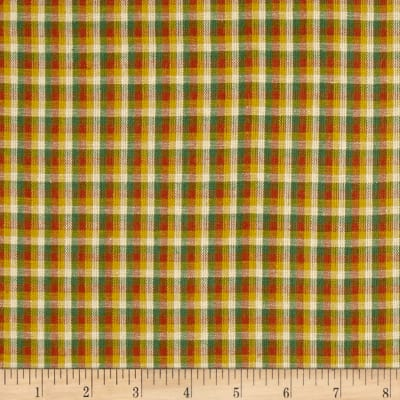 Yarn Dyed Shirting Check Gold/Rust/Green