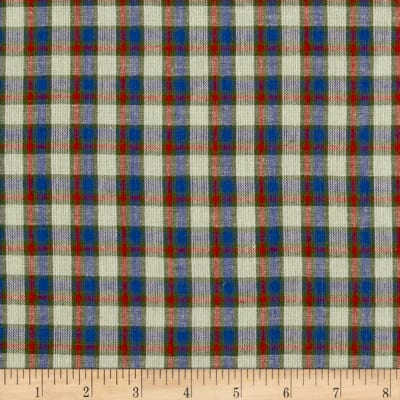 Yarn Dyed Shirting Plaid Nat/Blue/Green/Red