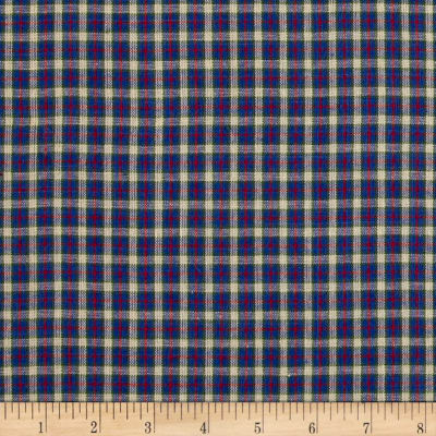 Yarn Dyed Shirting Small Plaid Nat/Blue/Green/Red