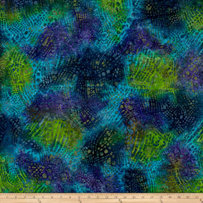 Swirl Dots Batik Blue/Green/Purple