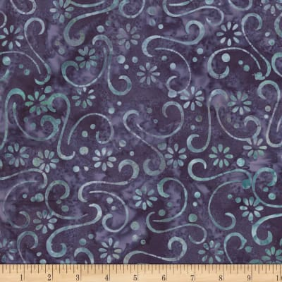 Wilmington Batiks Floral Patchwork Purple/Blue