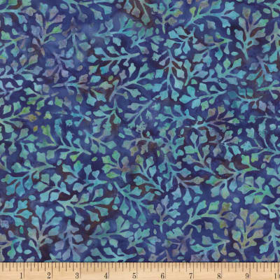 Wilmington Batiks Delicate Leaves Purple/Blue