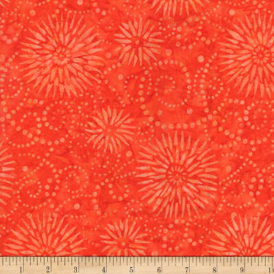 Wilmington Batiks Flower Burst Orange