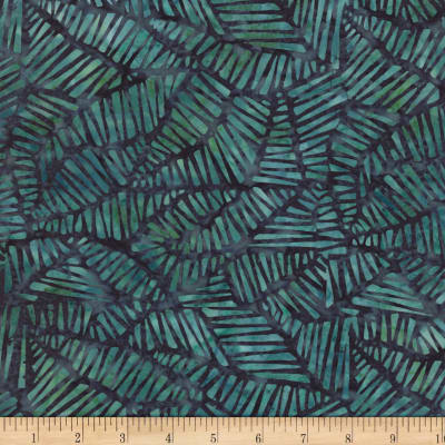 Wilmington Batiks Stylized Puzzle Teal/Turquoise