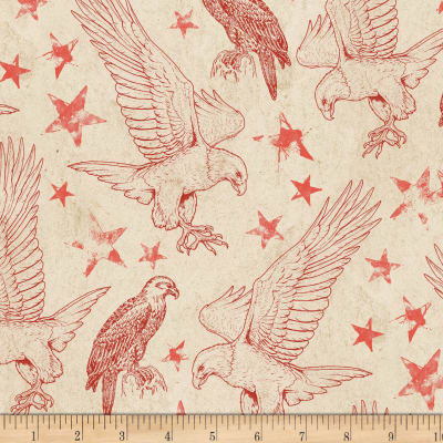 Wilmington Land of Liberty Toile Tan/Red