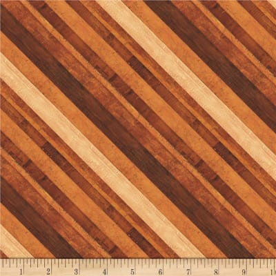 Wilmington Amber Reflections Diagonal Stripe Brown