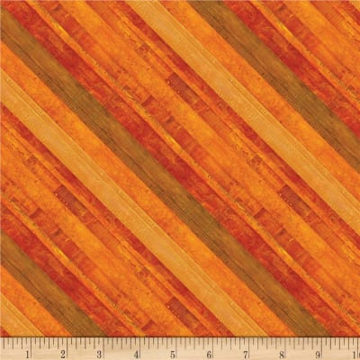 Wilmington Amber Reflections Diagonal Stripe Brown/Red