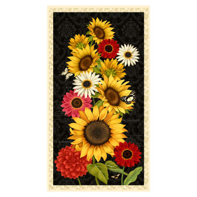 "Wilmington Sunset Blooms Large 24"" Panel Multi"