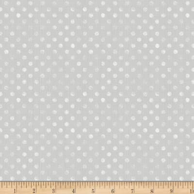 Wilmington To The Moon and Back Flannel Dot Light Gray