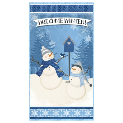 "Wilmington Welcome Winter! Large 24"" Panel Multi"